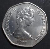 Islands Solomon 1 dollar 1977 UNC, Australia si Oceania