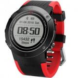 Smartwatch iUni DM18, GPS incorporat, BT, Display OLED 0.95 inch, Rezistent la apa, Rosu MediaTech Power