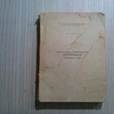 CALCULUL SI CONSTRUCTIA AUTOMOBILELOR * Schimbator de Viteze - Gh. Fratila