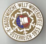 SPORT DE IARNA - AUSTRIA 1953  - Insigna email  SUPERBA