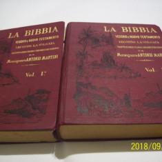 La bibbia-v. e n. testamento a. martini 2 vol. limba italiana