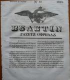 Ziarul Buletin , gazeta oficiala a Principatului Valahiei , nr. 18 , 1839