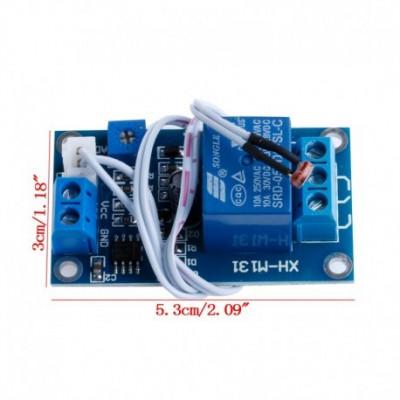 senzor intensitate lumina XH-M131 DC 5V / 12V cu releu 10A si fotoresistor foto
