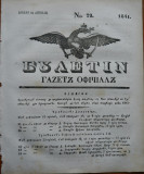 Ziarul Buletin , gazeta oficiala a Principatului Valahiei , nr. 22 , 1841