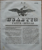 Ziarul Buletin , gazeta oficiala a Principatului Valahiei , nr. 33 , 1839