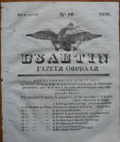 Ziarul Buletin , gazeta oficiala a Principatului Valahiei , nr. 19 , 1839