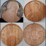 Icoane  sculptate din lemn - Comanda cu Sfantul dorit