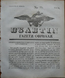 Ziarul Buletin , gazeta oficiala a Principatului Valahiei , nr. 23 , 1841