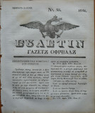 Ziarul Buletin , gazeta oficiala a Principatului Valahiei , nr. 35 , 1841