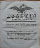 Ziarul Buletin , gazeta oficiala a Principatului Valahiei , nr. 20 , 1839