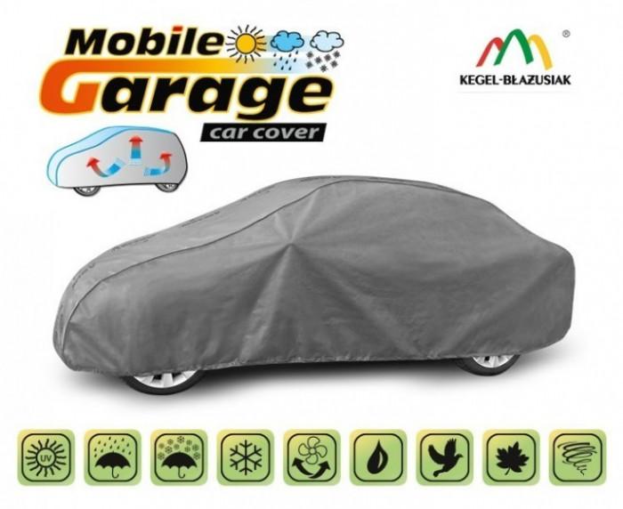 Prelata auto, husa exterioara Volkswagen Bora impermeabila in exterior anti-zgariere in interior lungime 425-470cm, L Sedan, model Mobile Garage
