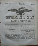 Ziarul Buletin , gazeta oficiala a Principatului Valahiei , nr. 38 , 1841