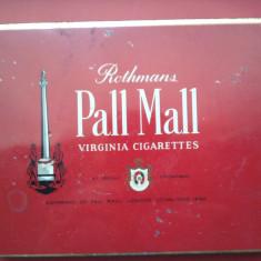 Cutie veche din tabla pentru tigari Rothmans Pall Mall