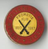 SCOALA OFITERI DE ARTILERIE 1937-1987  - Insigna MILITARA RARA