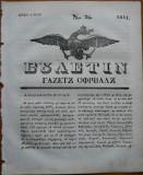 Ziarul Buletin , gazeta oficiala a Principatului Valahiei , nr. 26 , 1841