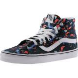 Vans Sk8-Hi Reissue Pool Vibes Black / True White Ankle-High Fabric Fashion Sneaker #, 40