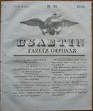 Ziarul Buletin , gazeta oficiala a Principatului Valahiei , nr. 32 , 1839