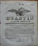 Ziarul Buletin , gazeta oficiala a Principatului Valahiei , nr. 39 , 1841