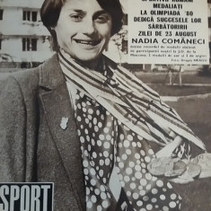 RWX 03 - REVISTA SPORT - NR 8/ AUGUST 1980 - PIESA DE COLECTIE