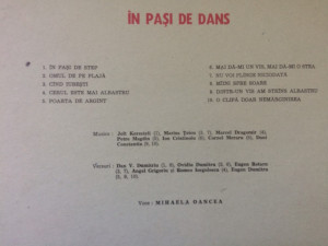 mihaela oancea in pasi de dans album disc vinyl lp muzica pop usoara slagare