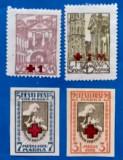 ESTONIA -4timbre  f.vechi- cu supratipar pt CRUCEA -ROSIE-MNH, Stampilat