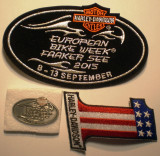 5.538C LOT 3 PIESE MOTO HARLEY DAVIDSON EUROPEAN BIKE WEEK FAAKER SEE 2015