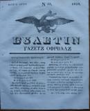 Ziarul Buletin , gazeta oficiala a Principatului Valahiei , nr. 55 , 1839