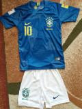 Echipament copii Brazilia 5-12 ani, 10-11 ani, 4-5 ani, 6-7 ani, 7-8 ani, 8-9 ani, 9-10 ani, Albastru, Unisex