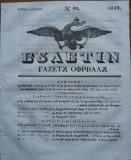 Ziarul Buletin , gazeta oficiala a Principatului Valahiei , nr. 48 , 1839