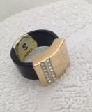Ghiul barbati-inel VERIGHETA unisex placat cu aur 18k - marimea 8, 18 mm