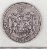 Bnk mnd sc Romania 5 lei 1883 argint