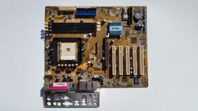 Placa de baza ASUS K8N, socket 754, 3x DDR400, AGP 8X v3.0, 2x SATA foto
