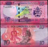 !!!  NOU  :  SOLOMON  ISLANDS  -  10  DOLARI   2017  - P NEW  -  UNC
