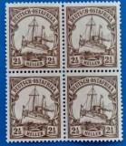 GERMANIA -Reich=1900-Colonie in AFRICA de est-BLOC de4 -mnh, Stampilat