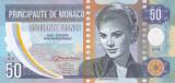 Bancnota Monaco 50 Franci 2018 - proba din polimer ( Grace Kelly )