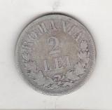 Bnk mnd sc Romania 2 lei 1876 argint