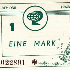 !!! RARR  : RDG , STATIUNEA  ZINNOWITZ -  BON  VALORIC  1  MARCA  1985  - UNC