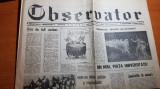 Ziarul observator 1 septembrie 1990- din nou in piata universitatii