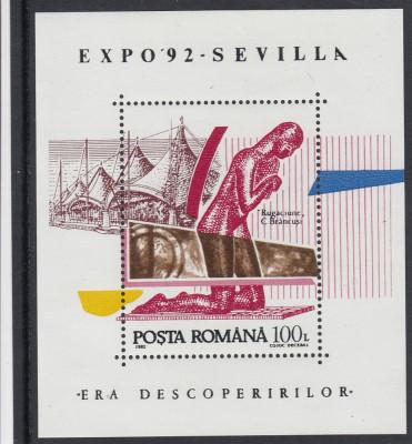 ROMANIA 1992   LP 1294  EXPO SEVILLA    COLITA   MNH foto