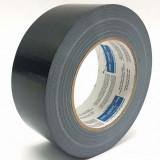 Banda adeziva speciala, neagra, cu insertie panza, 48mm/25m