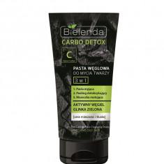 Pasta pentru curatarea fetei cu carbon 3 in 1, Carbo Detox, 150 g, Bielenda
