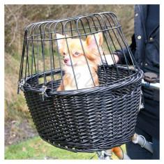 Coș portabil pentru bicicletă, cu grilaj, pentru câini 50 x 41 x 35 cm