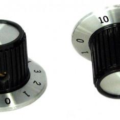 Buton pentru potentiometru, 30mm, plastic, negru, 30x18mm - 127151