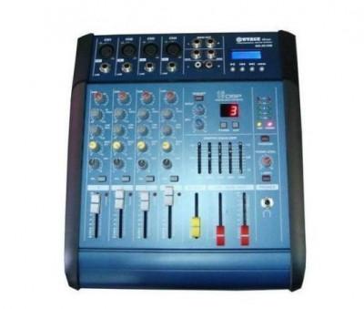 Mixer audio cu amplificare WG-4D USB cu putere de 2 x 100 W,4 canale foto