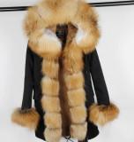 Geaca Parka - cu blana naturala de vulpe diverse culori si modele