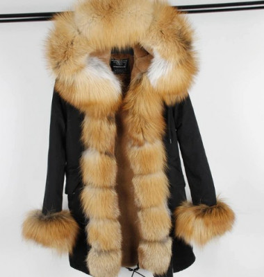 Geaca Parka - cu blana naturala de vulpe diverse culori si modele foto