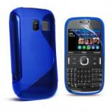 Toc silicon S-Case Nokia Asha 302 Albastra