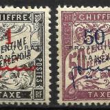 MAROC SUPRATIPAR CIFRE / FRANTA--1915 MNH, Nestampilat