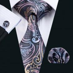 Set cravata matase butoni batista + cutie cadou