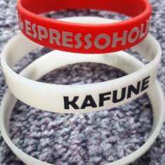 3 bratari din silicon Kafune Espressoholic, noi